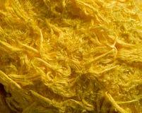 torkduketyg yellow thick Arkivfoto