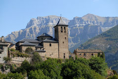 Torla. Aragonese Pyrenees village in Spain Royalty Free Stock Images