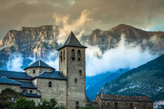 Torla town in Ordesa National pakr in the spanish pyrenees. Royalty Free Stock Photography