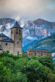 Torla town in Ordesa National pakr in the spanish pyrenees. Stock Photo