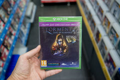Torment: Tides of Numenera videogame on XBOX One Royalty Free Stock Photography