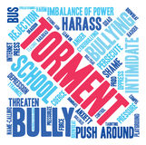 Torment Word Cloud Royalty Free Stock Image