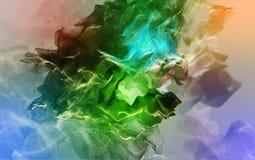 Tormenta abstracta hermosa del polvo, ejemplo 3d Imágenes de archivo libres de regalías