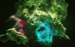 Tormenta abstracta hermosa del polvo, ejemplo 3d Fotos de archivo libres de regalías