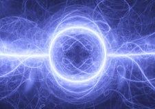 Tormenta azul del relámpago del fractal Fotografía de archivo libre de regalías