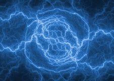 Tormenta azul del relámpago del fractal Fotos de archivo