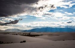 Tormenta blanca de las arenas Fotos de archivo