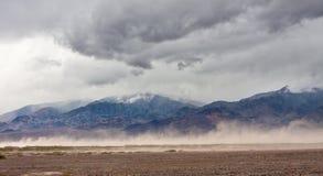 Tormenta de Death Valley Imagen de archivo libre de regalías