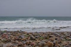 Tormenta de la costa de Mar del Norte Imágenes de archivo libres de regalías