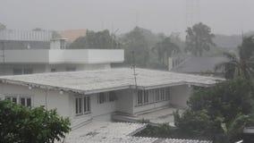 Tormenta de la lluvia almacen de video