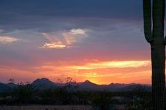 Tormenta de la monzón de AZ Fotografía de archivo libre de regalías