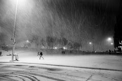 Tormenta de la nieve Fotos de archivo libres de regalías