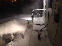 Tormenta de la nieve imagen de archivo