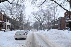 Tormenta de la nieve Imagen de archivo libre de regalías