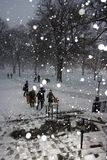 Tormenta de la nieve de Boston Imagen de archivo libre de regalías
