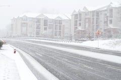 Tormenta de la nieve en Fairfax Fotografía de archivo