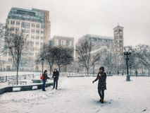 Tormenta de la nieve en Nueva York Fotografía de archivo