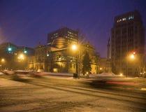 Tormenta de la nieve en South Bend Fotos de archivo libres de regalías