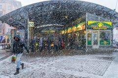Tormenta de la nieve en St Petersburg Imágenes de archivo libres de regalías