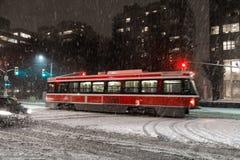 Tormenta de la nieve en Toronto Imágenes de archivo libres de regalías