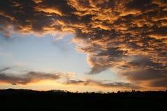 Tormenta de la puesta del sol Imágenes de archivo libres de regalías