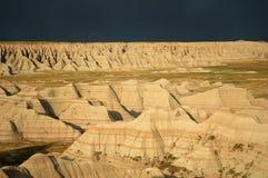 Tormenta de los Badlands Imagenes de archivo