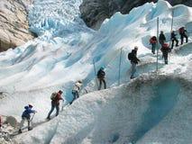 Tormenta de un glaciar Imagenes de archivo