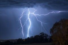 Tormenta del aligeramiento en Australia Foto de archivo libre de regalías