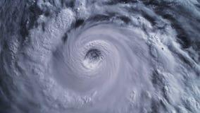 Tormenta del huracán, visión por satélite Elementos de esta imagen equipados por la NASA metrajes