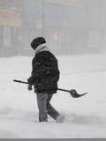 Tormenta del invierno Fotografía de archivo