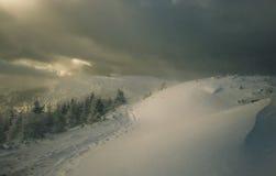 Tormenta del invierno Fotos de archivo libres de regalías