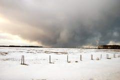 Tormenta del invierno. Imagen de archivo libre de regalías