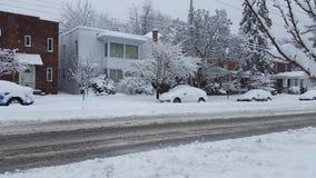 Tormenta del invierno Imagen de archivo libre de regalías
