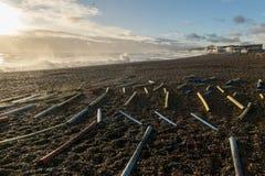 Tormenta 2017 del invierno de Hastings Fotografía de archivo libre de regalías
