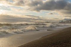 Tormenta 2017 del invierno de Hastings Imagen de archivo libre de regalías
