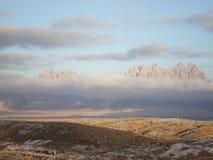 Tormenta del invierno del desierto Imagen de archivo libre de regalías