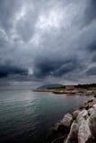 Tormenta del mar Imagen de archivo libre de regalías