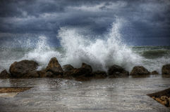 Tormenta del mar Imagenes de archivo