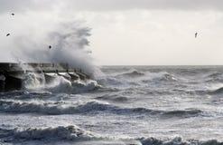 Tormenta del mar Imágenes de archivo libres de regalías