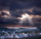 Tormenta del océano Foto de archivo