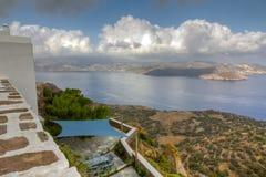 Tormenta del verano cerca, Milos, Grecia Fotos de archivo libres de regalías