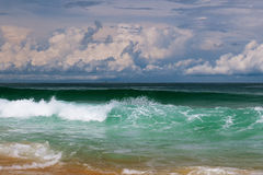Tormenta dramática del mar Foto de archivo