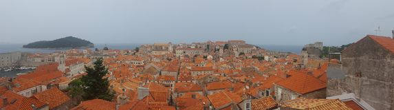 Tormenta Dubrovnik, Croacia dalmatia fotografía de archivo