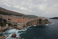 Tormenta Dubrovnik, Croacia dalmatia fotos de archivo