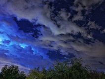 Tormenta eléctrica de la noche Imagen de archivo libre de regalías