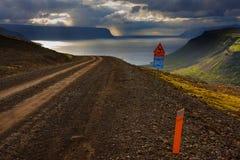 Tormenta en el fiordo Foto de archivo libre de regalías