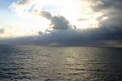 Tormenta en el mar   Fotografía de archivo libre de regalías