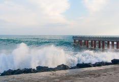 Tormenta en el mar Imágenes de archivo libres de regalías