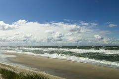 Tormenta en el mar Báltico Imagen de archivo libre de regalías
