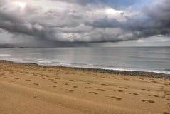 Tormenta en el mar, Costa del Sol Fotos de archivo